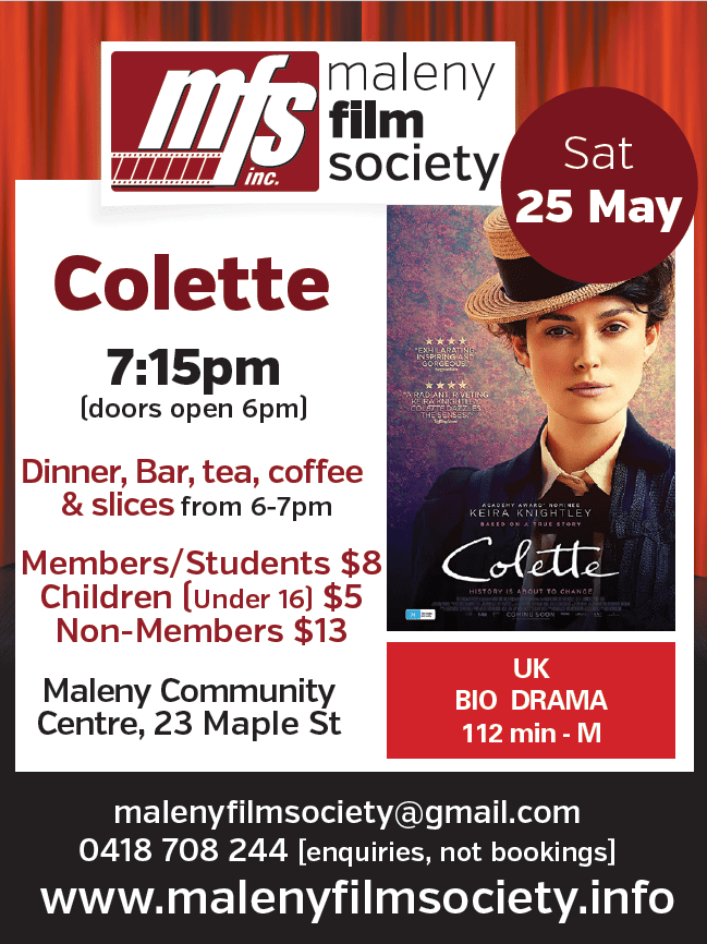 Maleny Film Society – Colette | Maleny District Sport and Recreation Club  Inc